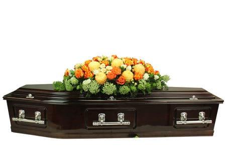 Luscious Apricot Casket Flowers