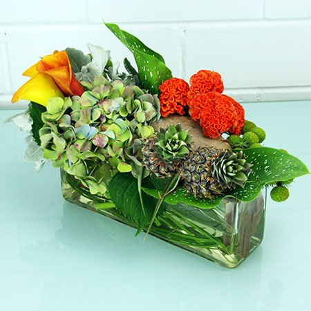 Tropical Vase (Medium Rounded) Table Arrangement Portolio