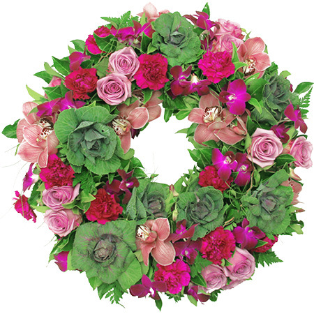 Lush Purple Sympathy Wreath Delivered