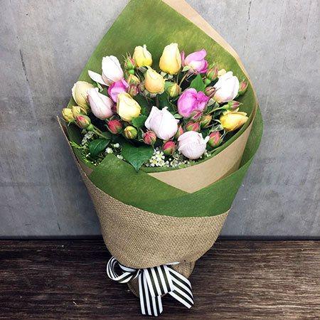 Mixed David Austin Rose Bouquet (Sydney Only)