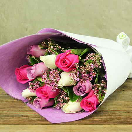 Mixed Pastel Rose Bouquet
