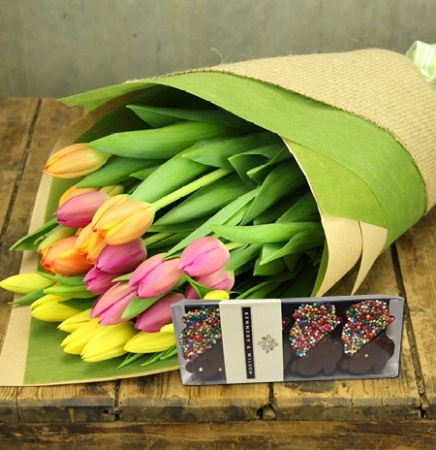 Mixed Tulips with Freckle Bunnies (Sydney Only)