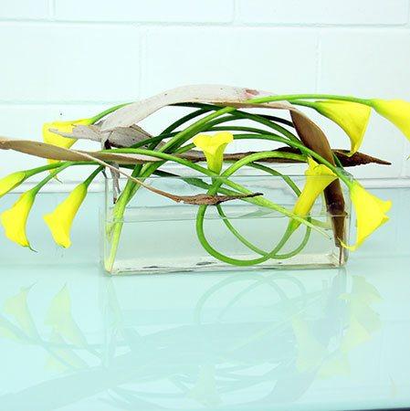 Calla Lily Modern Vase Arrangement