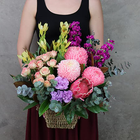 Monet`s Muse Flower Basket