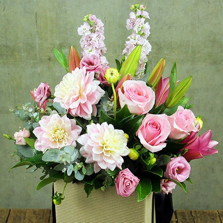 Mothers Day Bag of Blooms with Free Candle (Sydney Only)