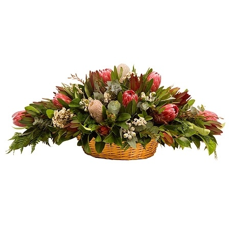 Native Flower Basket Arrangement Flowers
