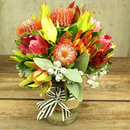Natives Flowers in Vase