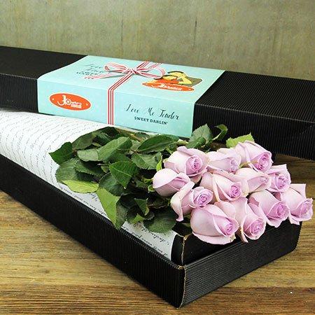 One dozen long stem roses blue moon sydney only for Blue long stem roses
