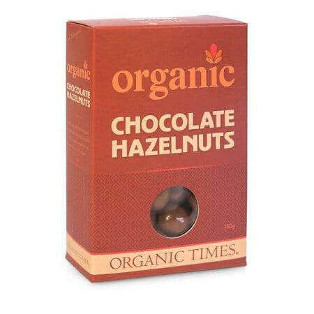 Organic Milk Chocolate Hazelnuts