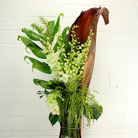 Organic White Husk Arrangement