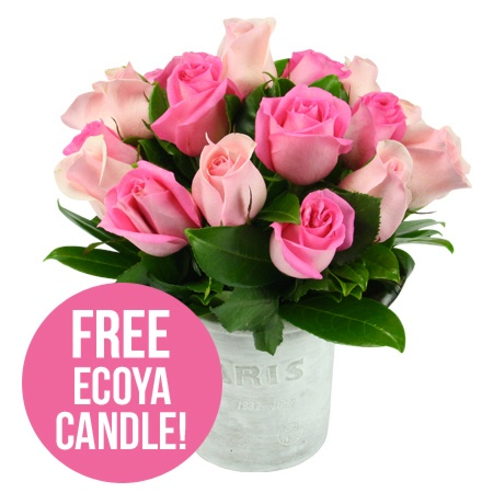 Paris Pink Roses and Free Ecoya Candle