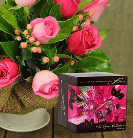 Paris Pink Roses & Chocolate