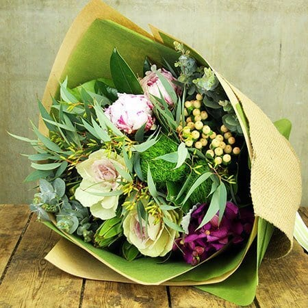 Peony and Eucalyptus Bouquet (Sydney Only)