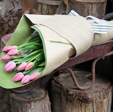 Petit Tulip Bouquet with Free Candle (Sydney Only)