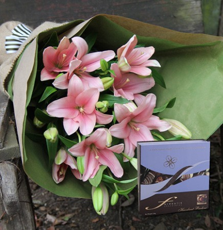 Pink Lilies & Truffles
