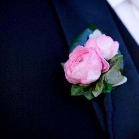 Pink Ranunculus Buttonhole