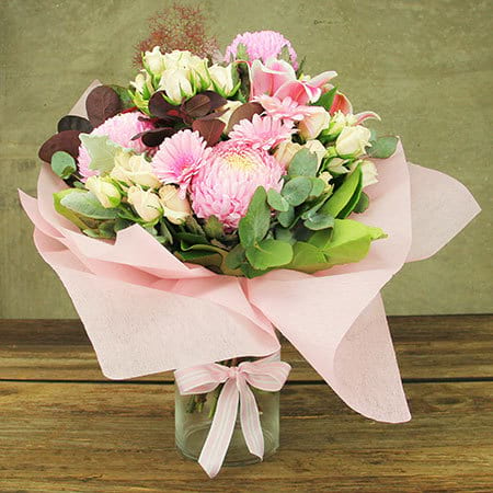 Pom Pom Pink Flowers Delivered