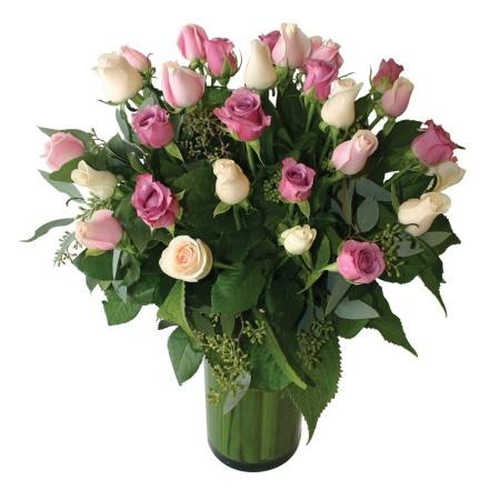 Premium Pastel Rose Vase
