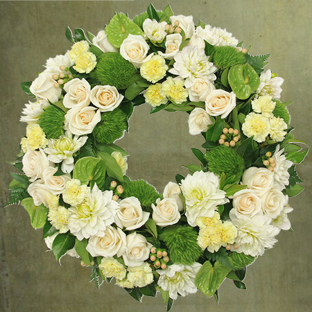 Premium White Floral Tribute Delivered