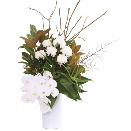 Premium White Orchid Vase