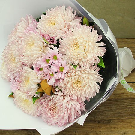 Pretty Pink Chrysanthemum Bouquet Delivered