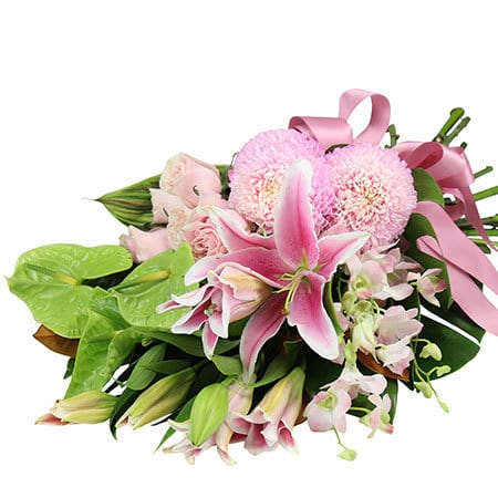 Pretty Tropical Funeral Sheaf Delivered in Sydney