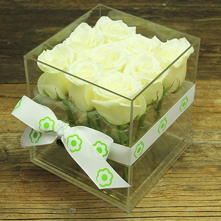 Pure White Rose Box Delivered Sydney
