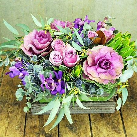 Purple Winter Flower Box (Sydney Only)