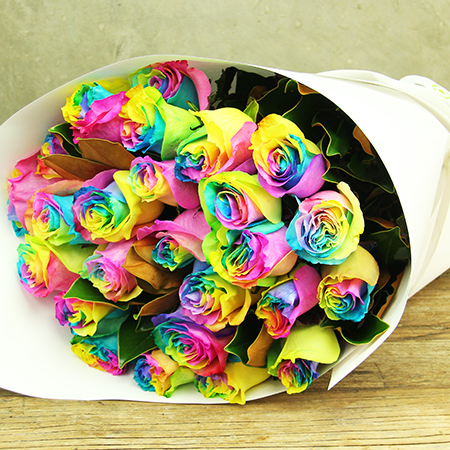 Deliver Rainbow Roses in Sydney, Melbourne and Perth