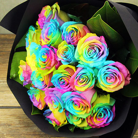 Rainbow Roses Melbourne - 20 Stems