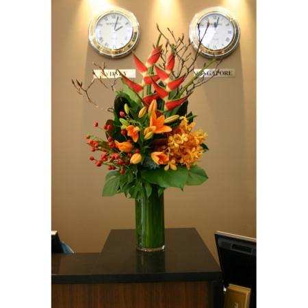 Reception Desk  1 - Corporate Flowers