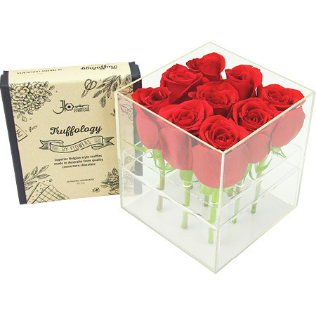 Red rose sweet chocolate box