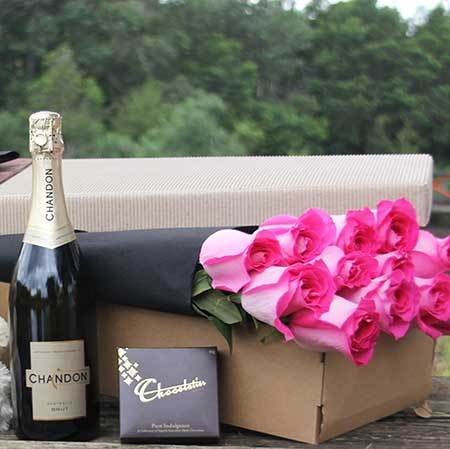 Roses, Champagne and Chocolate