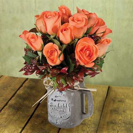 Roses in Mason Jar Perth