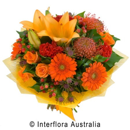 SA74 LUCY Bouquet of Bright Seasonal Blooms