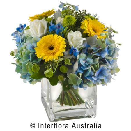 SA77 INDIGO Mixed Bouquet in Vase