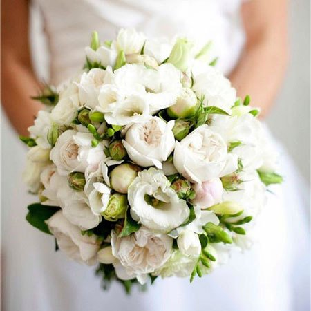 Semi Loose Bridal Bouquet Wedding Flowers