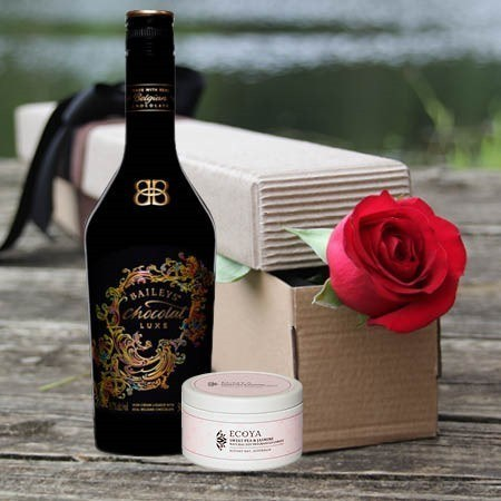 Single Red Rose and Baileys (Sydney Only)