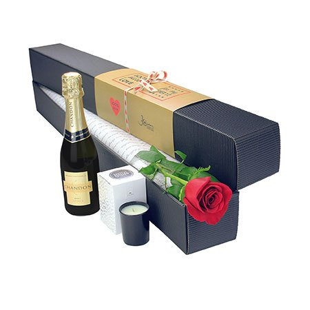 Single Red Rose with Bubbly (Sydney Only)