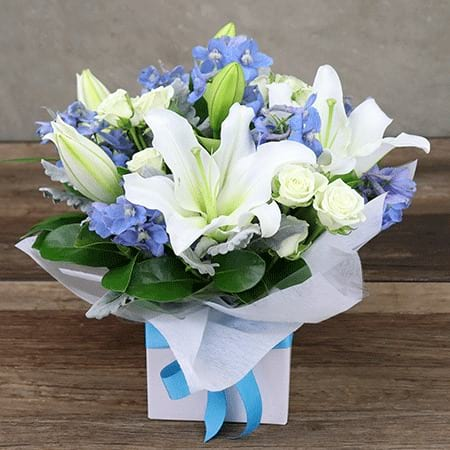 Sky Blue Flower Box