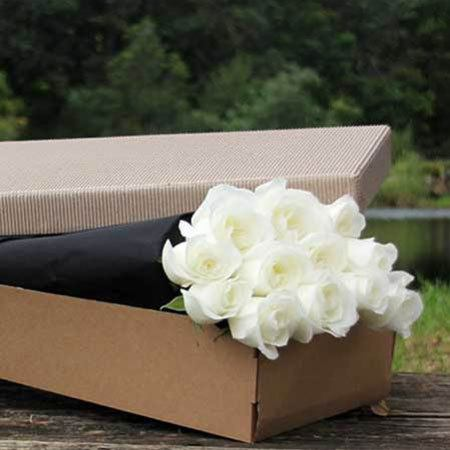 White Roses Gift Box Valentines day