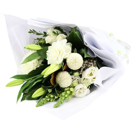 Snowy White Flower Bouquet