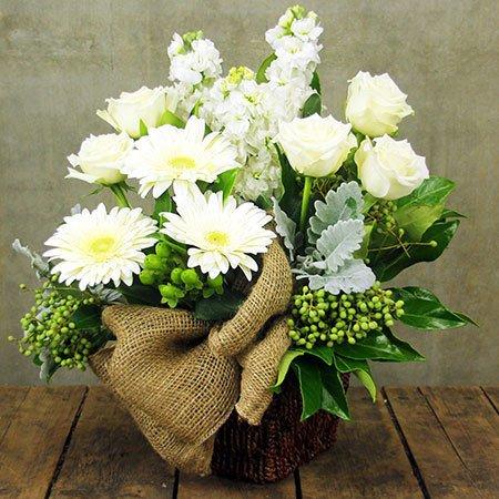 Spring Cream Neutral Flower Arrangement
