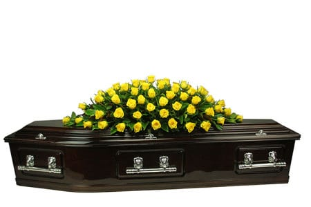 Sunshine Rose Casket Flowers