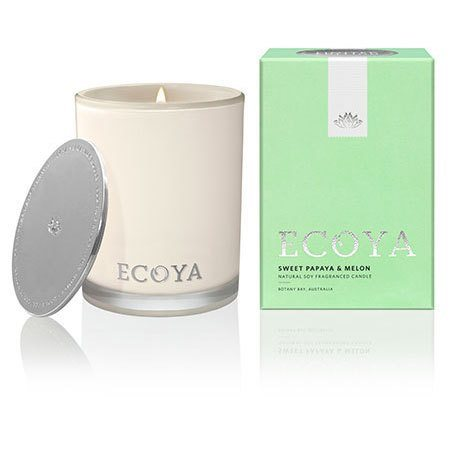 Sweet Papaya & Melon Ecoya Madison Jar Candle (80 hr burn)