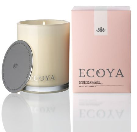 Sweet Pea & Jasmin Ecoya Madison Jar Candle (80 hr burn)