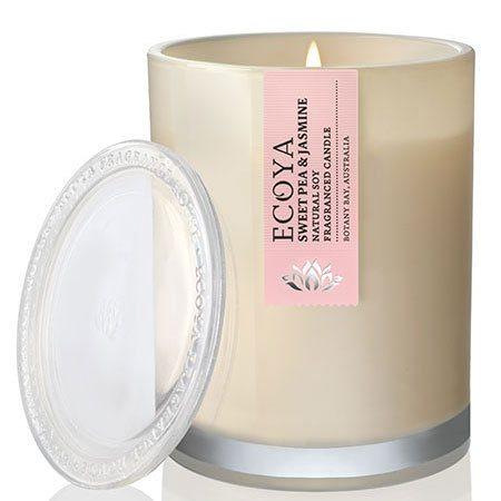 Sweet Pea & Jasmin Soy Wax Ecoya Candle (55 hr burn)