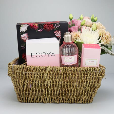 Sweet Rose Gift Basket