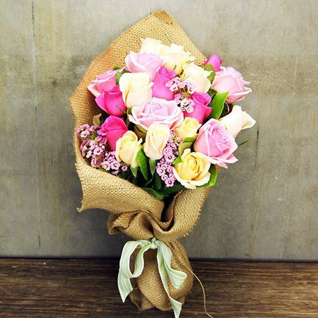 Sweet Summer Posy with Free Ecoya Candle (Syd and Melb)