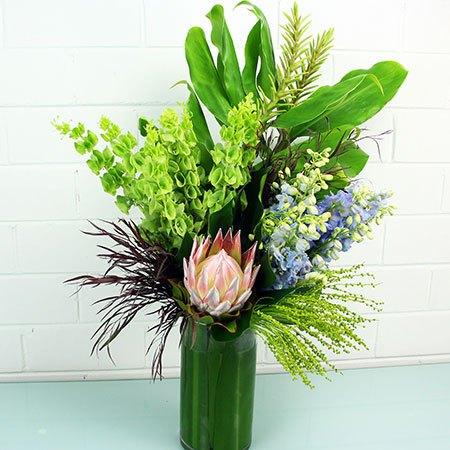 Neutral & Leafy Vase Arrangement